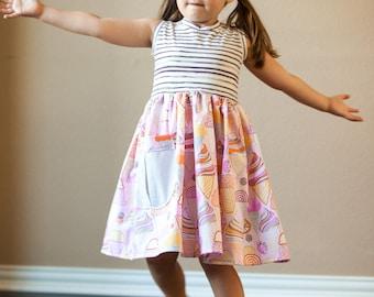 Ice Cream Party Dress, Girls Ice Cream Dress, Ice Cream Party, Birthday Dress, Party Dress, Pink Ice Cream Dress, Toddler Ice Cream Dress