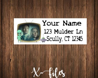 X-Files Address Labels, Mailing Labels