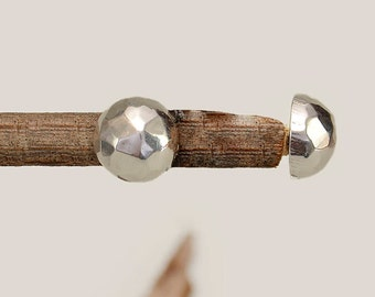 Sterling silver ball studs, sphere earrings, small round earring, hammered jewelry, circle jewelry, minimal stud, plain jewelry, button stud