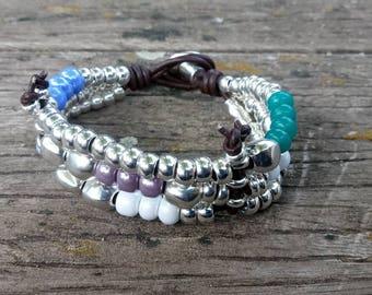 50 style bracelet One, Czech crystal bracelet