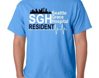 Grey's Anatomy Shirt | Greys Anatomy Sweatshirt | Seattle Grace Hospital | Seattle Grace Hospital Resident Shirt | Seattle Grace Hospital