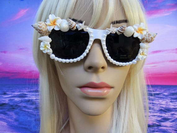 I'm Really A MERMAID Sunglasses Sunnies Sun Glasses Wayfarers Aviators Im Ariel Beach Sea Ocean Nautical Pinup The Little White Shells A042