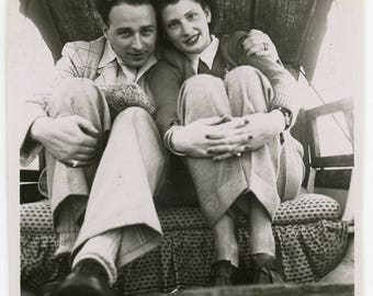 vintage photos 'Row Row Romance' - 4 photos romantic couple rowing boat, holiday, vernacular photos snapshot