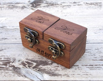 WALNUT reclaimed wood ring box wood ring box wedding wedding ring box wedding ring holder Proposal ring box wedding ring holder ring bearer