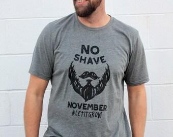 No Shave November - Let it Grow - Beard Shirts - Men's Shirts - Beard Shirts - Dad Beards - Beard Gang -  Unisex Adult Shirts - NovemBeard