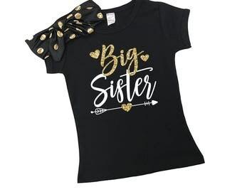 Big Sister Shirts - New Big Sister - Promoted to Big Sister Shirt - Matching Sister Shirts - Announcement Shirt - Sister - Big Sister to Be
