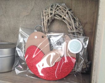 Robin Christmas Bauble Decoration by Duck Duck Goose