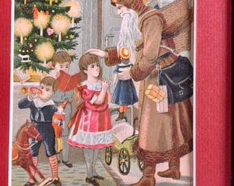 Victorian Trad Card with Santa