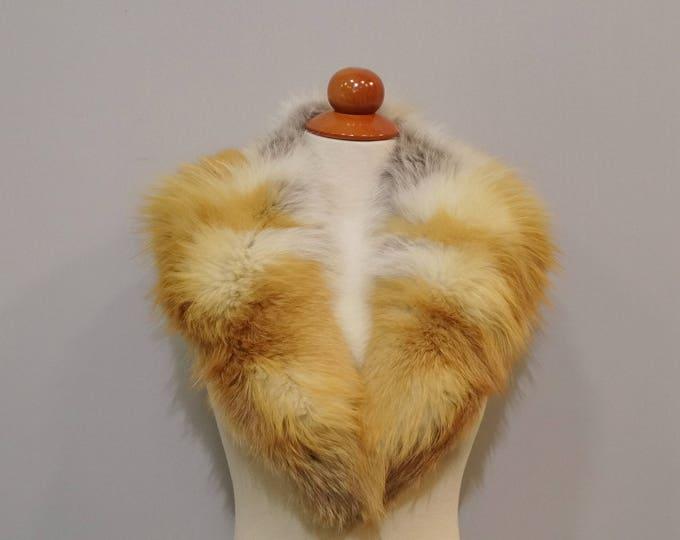 Real Red Fox Fur Collar F793