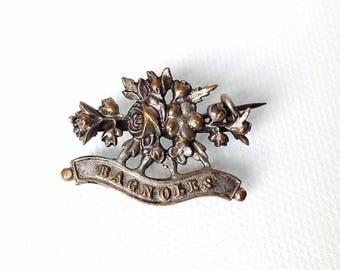 Antique  French Brooch, Bagnoles Souvenir