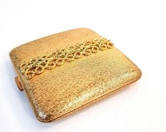 vintage Avon golden Compact powder