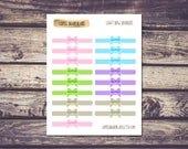 Light Bow Dividers Planner Stickers
