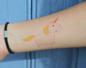 Unicorn - temporary tattoos x 2