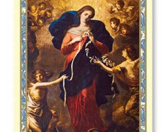 Mary Untier of Knots Holy Card - Powerful and Miraculous Prayer - One Prayer Card