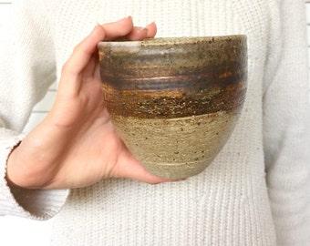 Earthy and organic handmade mug