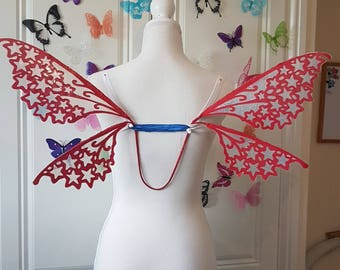 Red Shooting Star Celestial Fairy Wings