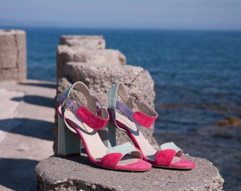 Block heel Sandals, Women's sandals, Unique Shoes, Summer Shoes, Wedding shoes, Comfortable heels, Day to evening shoes, Bohemian Sandals