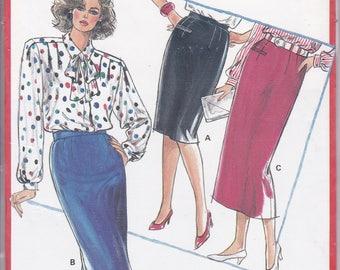 FREE US SHIP Burda 5996 Retro 90's Sewing Pattern Skirt Welt Pocket Size: 8 10 12 14 16 18 20 22 Waist 24 25 26.5 28 30 32 34 36 uncut