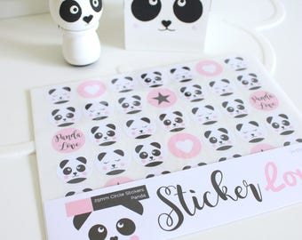 Stickers - Panda - Forest, Animal, Packaging, Label, Parcel, Gift, Wrapping, Packet, Adhesive, Present, Children