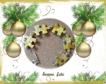 Puzzle pieces bracelet