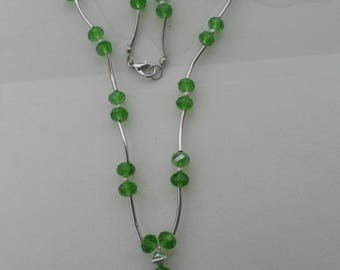 Necklace Crown and Crystal beads