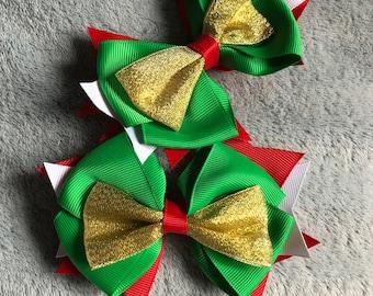 Christmas Themed Hair Bow