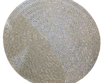 Luminous Collection Madison Avenue Rhinestone Placemat