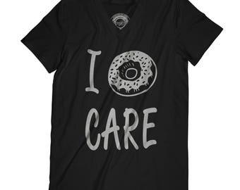 Fathers day shirt motivation gift Doughnut Care tshirt I dont care t shirt Funny Donut Shirt APV13