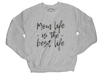 New mom gift mother sweatshirt blessed mom gift thankful sweatshirt wife gift graphic sweatshirt mom life sweatshirt       APV30