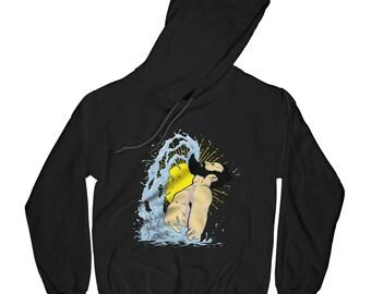 Funny hoodie beard hoodie hipster hoodie water hoodie swimming hoodie fitness hoodie summer hoodie humor hoodie     AP79