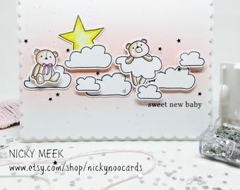Handmade Baby Card - Baby Girl - Newborn Girl
