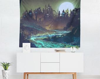 Halloween Wall Décor | Halloween Wall Hanging | Halloween Wall Tapestry |Halloween Wall Art | Halloween Art | Halloween Tapestry
