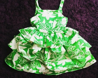 Tiered Satin Ruffle Dress