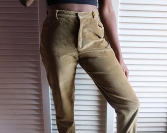 Vintage Khaki Corduroy Pants