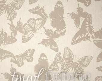 Woven Fabric - Ash Butterflies - Fat Quarter Yard +
