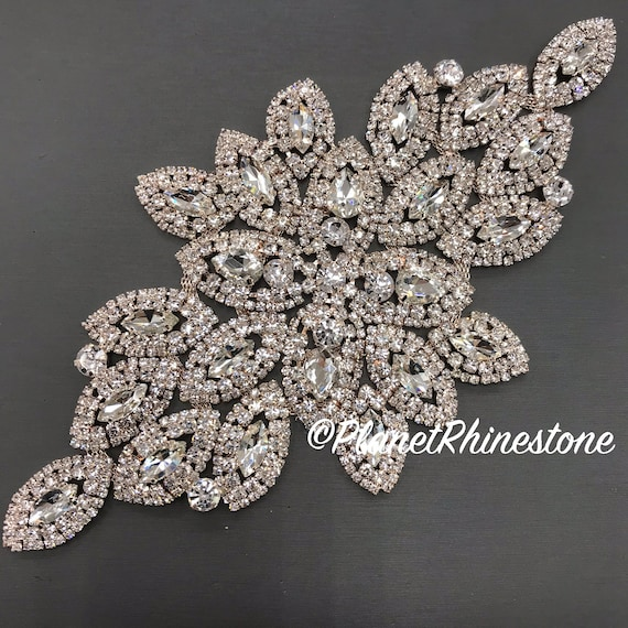 Rose Gold Large Rhinestone Applique #A-02