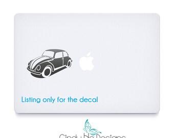 Volkswagen Beetle Car Decal / Sticker - Macbooks, iPhones, iPad, Tablet, Halloween, Car Windows
