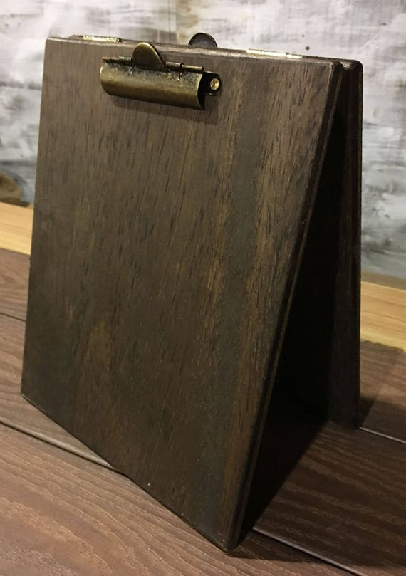 Like this item? & Large Wood Table Tent Clipboard with Two Clips 8.5x11 Menu