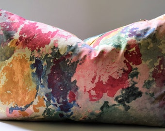 Kravet Equator Abstract Pillow Cover with an Impressionistic Flair, Designer Fabric Lumbar or Square, Custom Sizing