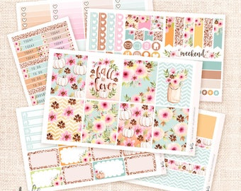Fall in Love - Fall Stickers Kit / 6 pages, matte or glossy planner stickers