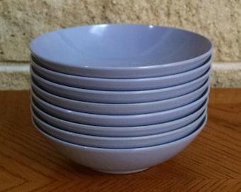 Melmac Sauce / Berry / Ice Cream / Bowls - Small Lavender Melamine Bowls - Royalon USA 308 - Set of 8 - Retro Vintage Dinnerware