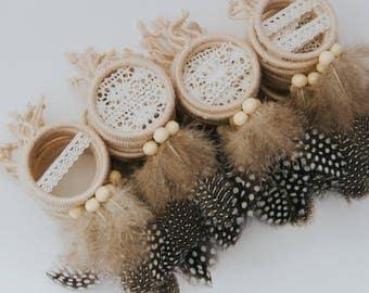 Bohemian Mini Dreamcatcher Favor Set Boho Wedding Favors Bridal Shower Baby
