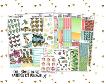 Weekly Sticker Kit   Vertical Sticker Kit   Summer Stickers   California Stickers   Spring Break Stickers   Tropical Stickers   Vacation