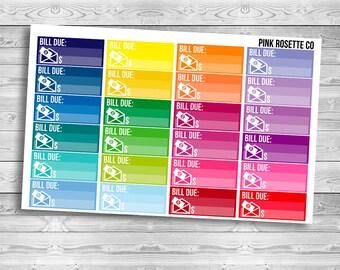 Bill Due in multicolored for Erin Condren Life Planner!