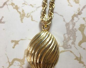 Vintage Avon perfume locket necklace