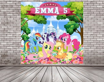 My Little Pony Backdrop, My Little Pony Booth, Pony Backdrop, Pony Photo Booth, Rainbow Backdrop, My Little Pony Party, My Little Pony Decor