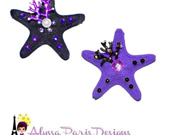 Starfish Ocean Hair Clip - Ariel Little Mermaid Ursual Octopus inspired Disney Princess
