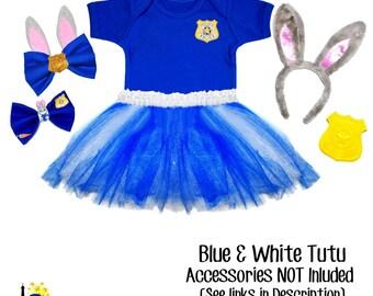 Judy Hopps Inspired Zootopia Police Tutu set - Girls dress up