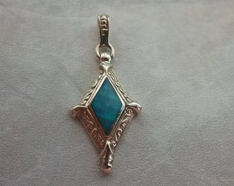 14kt. Opal Inlay Pendant/Charm