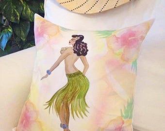 Hula Girl Cushion cover  40 x 40 cm